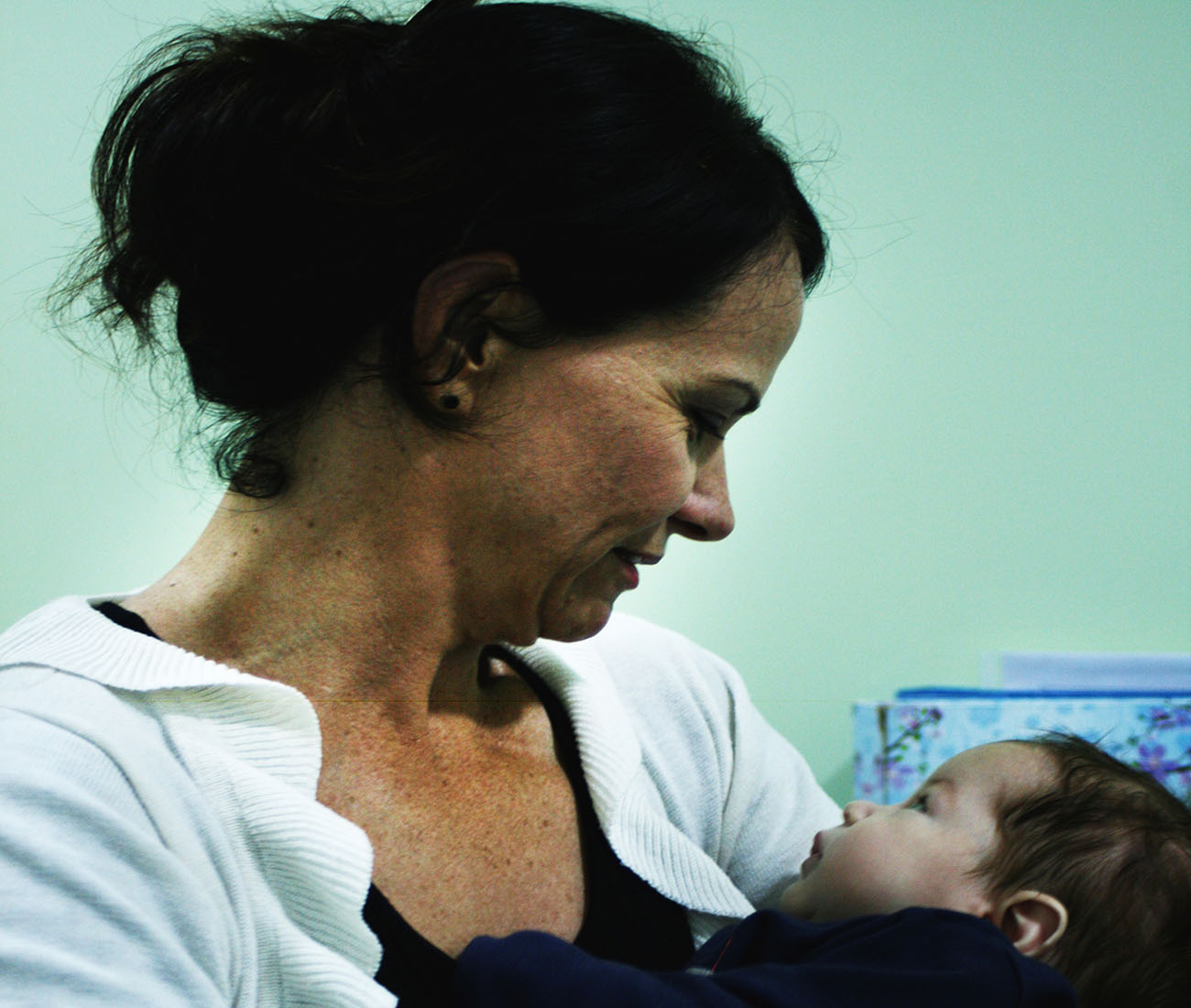 Children's Health - Mother looking at baby